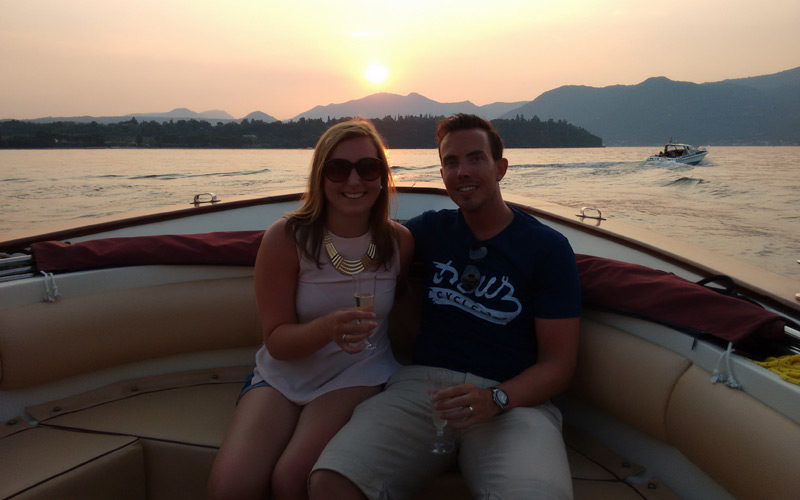 Sunset boat tour with aperitif abord