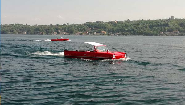 The Feast of the Assumption on Lake Garda - Vintage Cars on water